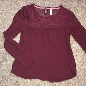 long sleeve with lace top
